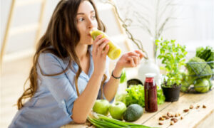 The woman knows the 50 soft foods to eat after dental surgery.
